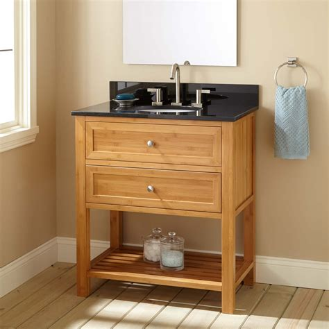 narrow depth bathroom vanities 30 quot narrow depth taren bamboo vanity for undermount sink