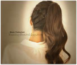 Hair tutorial cute braided poofy ponytail hairstyles amp updos for