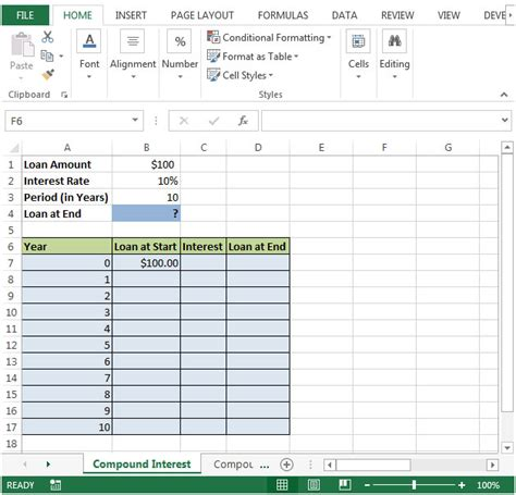 How To Create Compound Interest Calculator In Microsoft Excel Microsoft Excel Tips From Excel Compound Interest Excel Template