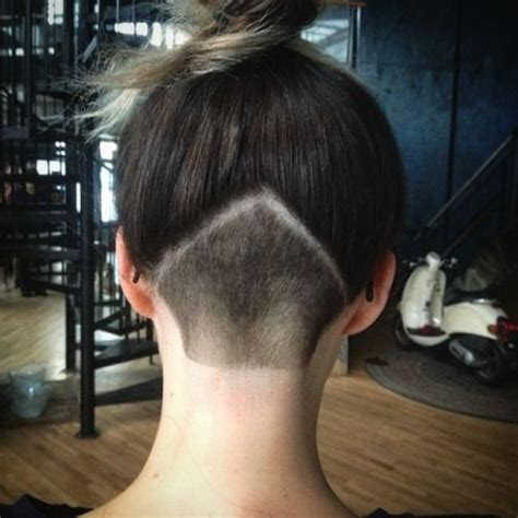 triangle with slight graduation with shaved head undercut hair pinterest undercut women style and