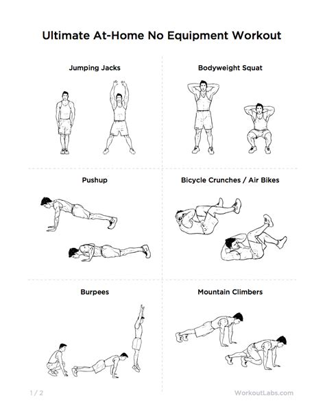 home workout plans men ultimate at home no equipment workout pack for men women