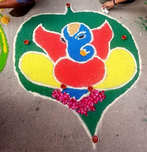 rangoli themes on social issues latest ganesh rangoli designs ideas and pictures for 2017
