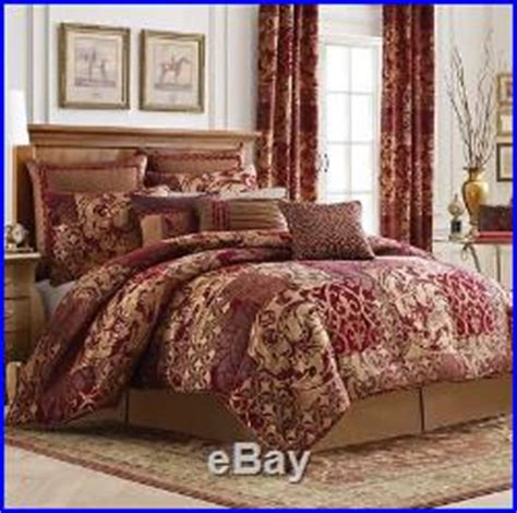 red and gold queen comforter set croscill ryland queen comforter set 5pc pillow floral