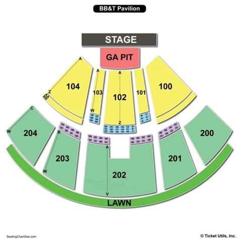 bbt center seating chart camden bb t pavilion seating chart seating charts and tickets