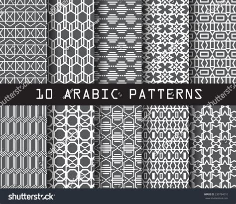 texture pattern swatches 10 arabic seamless patterns pattern swatches stock vector
