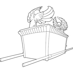 the ark of the covenant coloring page