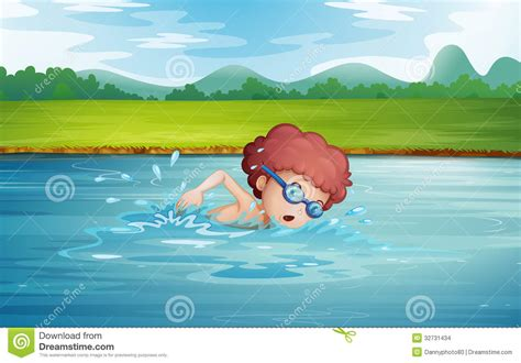 Swimsuit Boy 3in1 Plant a boy swimming at the river with goggles stock vector illustration of refresh refreshing
