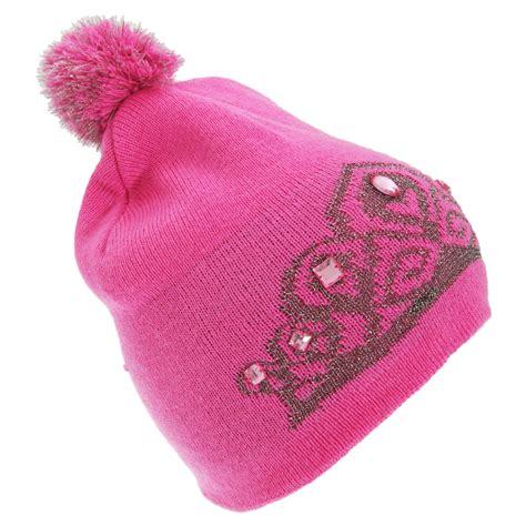floso womens tiara pattern winter beanie bobble hat