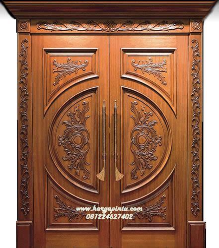 pintu kupu tarung ukir mewah kayu jati hp  harga pintu