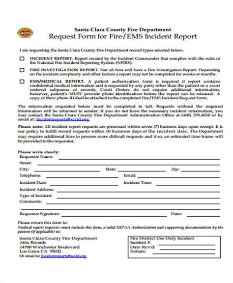 53 incident report exles