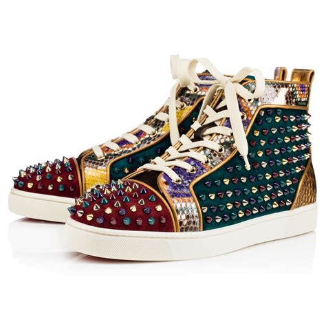 christian louboutin louis orlato flat high top sneakers for lyst