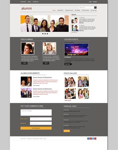 Website Layout Archives Free Website Templates Download Psd Template Design Alumni Association Website Templates Free