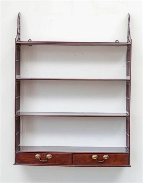 Mahogany Shelf by Georgian Revival Mahogany Wall Shelf For Sale At