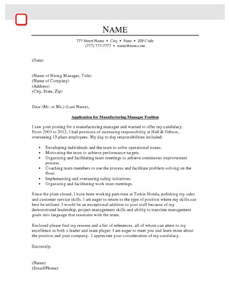 Manufacturing Executive Cover Letter by Restaurant General Manager Cover Letter Cover Letter Tips For Management Project Manager Cover