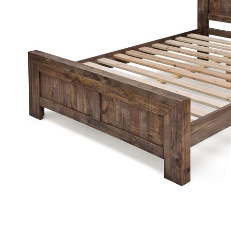rustic queen bed frame boston brand new recycled solid pine rustic timber queen