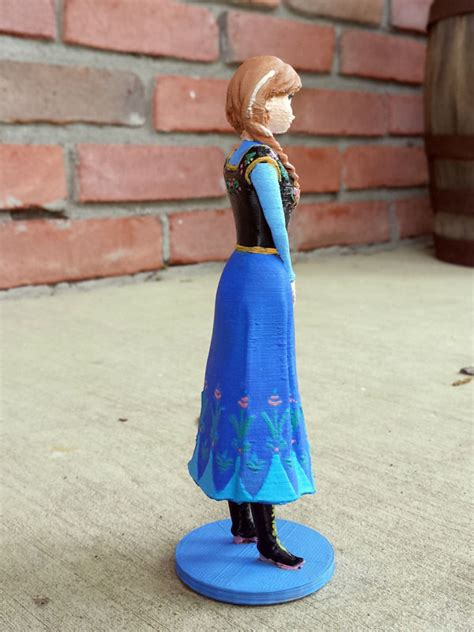 disneys frozen anna  model  printable stl cgtradercom