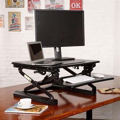 Flexispot 27 Quot Adjustable Sit Stand Desktop Workstation Sit Stand Desk Top Workstation