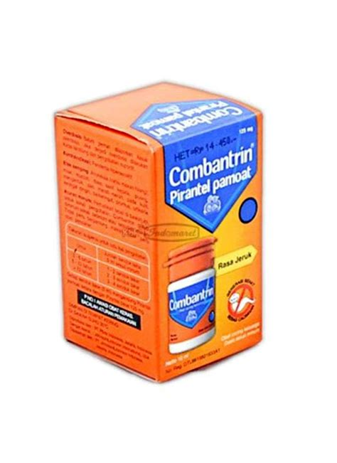 Obat Cacing Wormzol combantrin obat cacing liquid jeruk btl 10ml klikindomaret