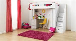 White Bunk Beds With Stairs And Desk by Bunk Beds With Desk Designs In Functional And