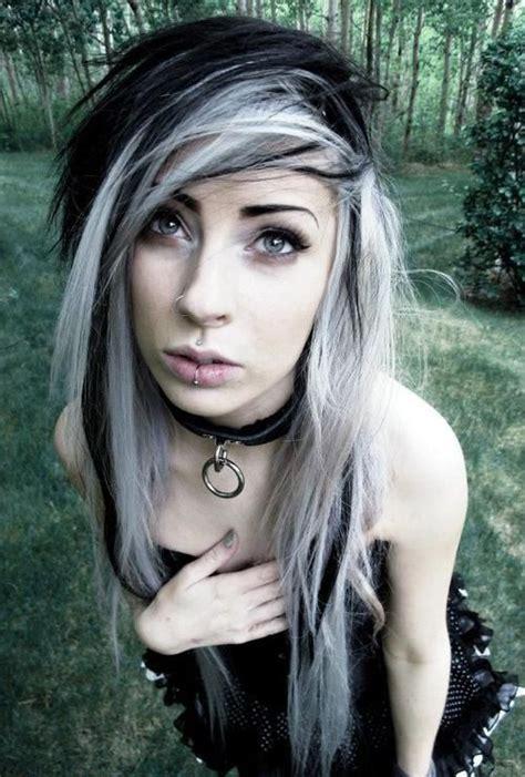 emo hairstyles black and white nicole lazuli scene hair wass e d pinterest scene