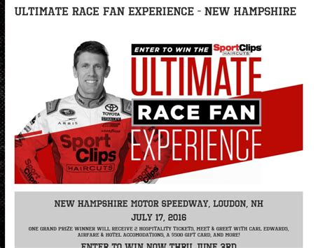 Sports Clips Gift Card - the sport clips ultimate race fan experience new hshire sweepstakes