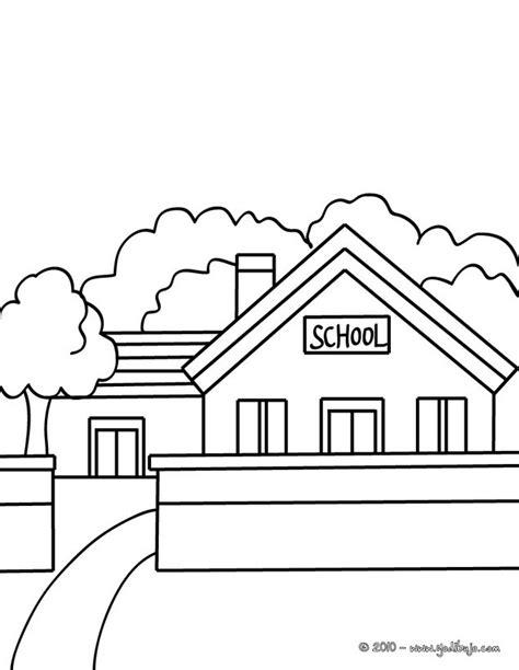 escuela lecturas infantiles dibujos para colorear y pintar dibujos para colorear una escuela es hellokids com