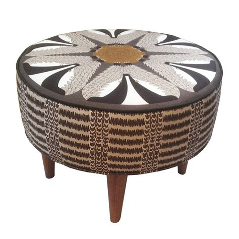 round footstool ottoman night badger round footstool ottoman by orwell and goode