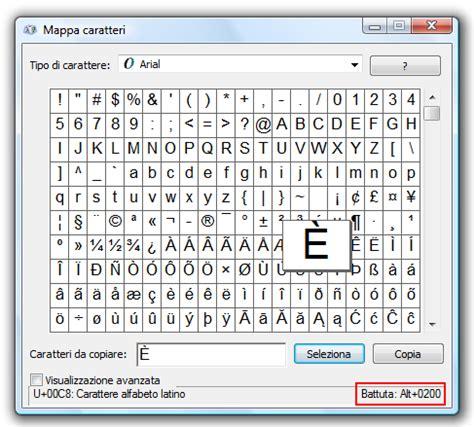 lettere speciali tastiera tasti di scelta rapida per caratteri speciali e lettere