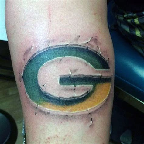 green bay packer tattoos 70 football tattoos for nfl ink design ideas