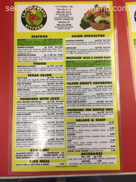 cajun kitchen menu