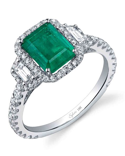 emerald engagement rings for a one of a martha stewart weddings