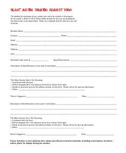 auction forms templates sle donation request form 10 exles in pdf word