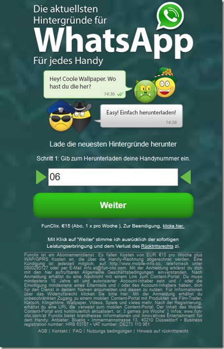whatsapp wallpaper kosten vorsicht gewinnspiel f 252 hrt in abofalle whatsapp