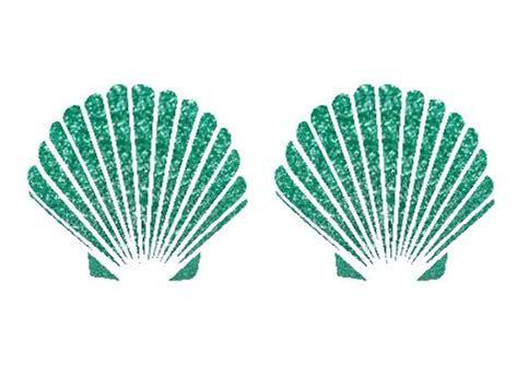 Mermaid Shell diy sea shell mermaid glitter seashell bra clam shell iron on