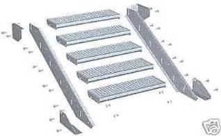 treppe gitterrost neu stahltreppe trefor w treppe gel 228 nder gitterrost ebay