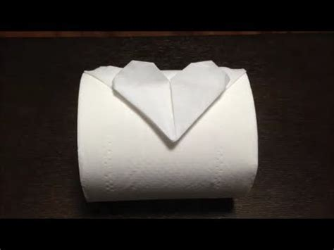 Toilet Paper Fold - toilet paper origami
