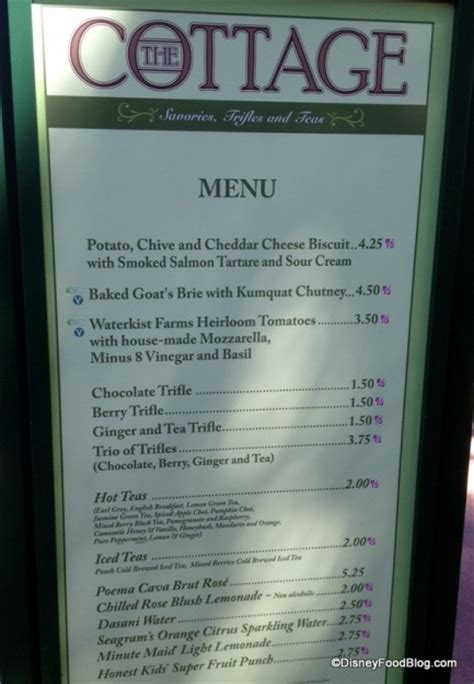 The Cottage Menu Review 2013 Epcot Flower And Garden Festival Food