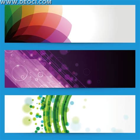 templates for web banners 3 colorful website banner background design template