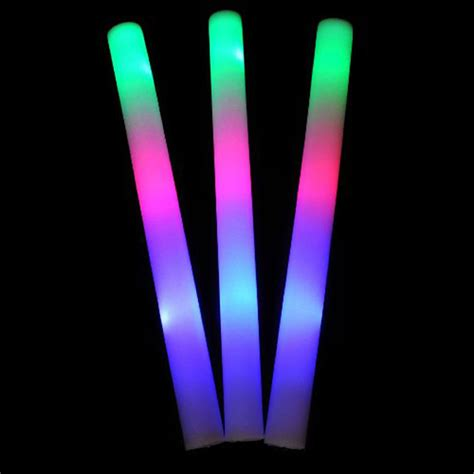 Light Stick - 48pk 16 quot light up foam sticks led multi color changing