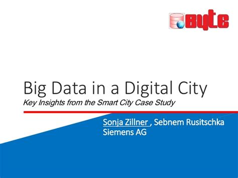 smart city use cases smart city studies and development notes books big data in a digital city key insights from the smart
