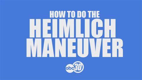 how to do the heimlich on a program teaches the heimlich maneuver abc30