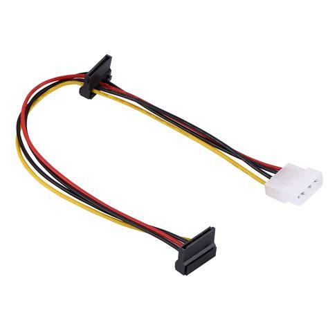 4 power cable 35cm 4 pin molex to 2xsata power supply