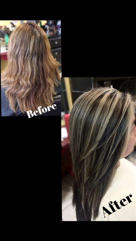 dark hair base with platinum highlights dark brown with platinum highlights my hairstyles
