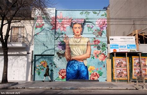 Wall Murals Los Angeles frida kahlo mural in buenos aires ba street art