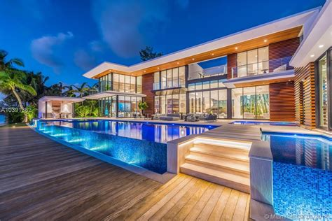 magnificent modern miami mansion with panorama