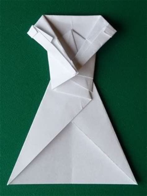 Dollar Origami Step By Step - money origami dress folding with photos