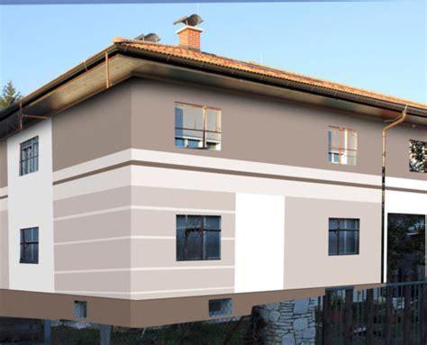 fassadenfarbe schlamm fassadengestaltung design und farbe mit vorabvisualisierung