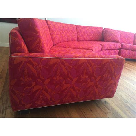 semi circular couch mid century modern semi circular sectional sofa chairish