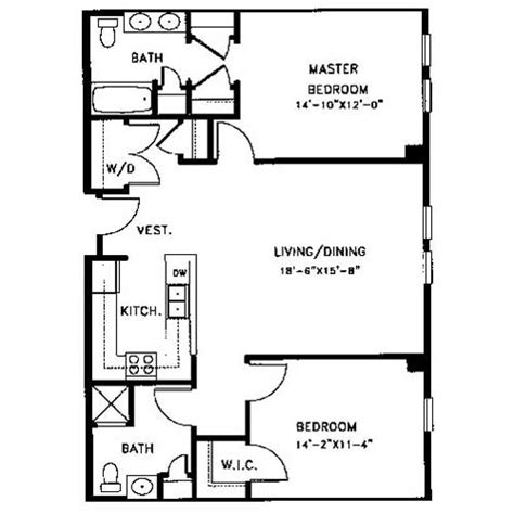 Bedroom Floor Plan With Ensuite Apartment Floor Plans Legacy At Arlington Center