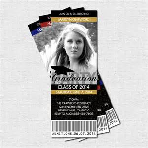 graduation ticket invitations or announcement by nowanorris